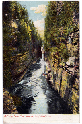 Ausable Chasm Vintage Postcard