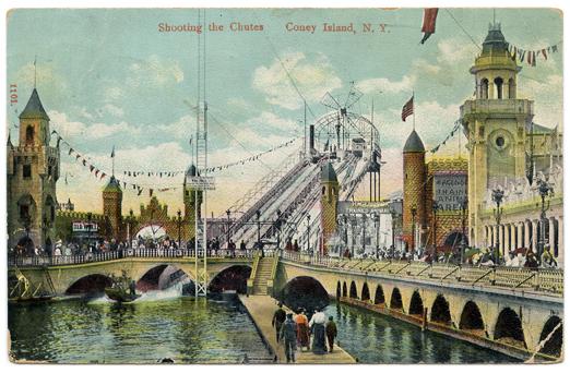 Coney Island Vintage Postcard