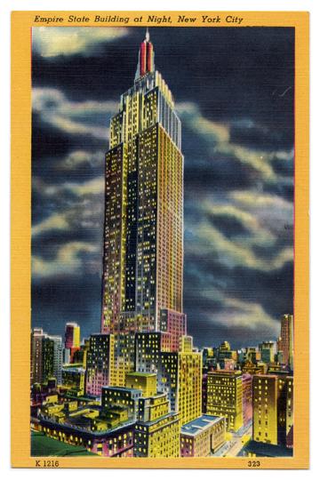 Empire State Building Vintage Postcard