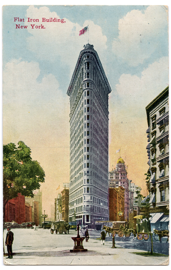 Flat Iron Building NYC Vintage Postcard