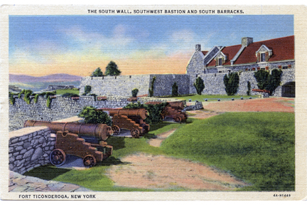 Fort Ticonderoga Vintage Postcard