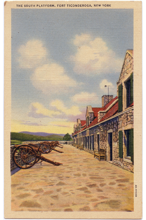 South Platform at Fort Ticonderoga Vintage Postcard