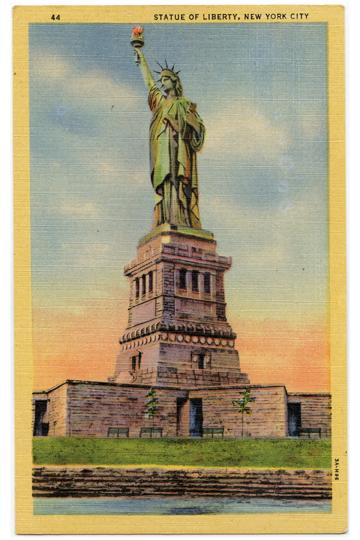 Statue of Liberty NYC Vintage Postcard