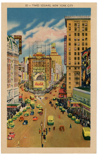 Times Square in NYC Vintage Postcard