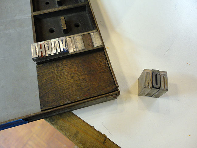 Lovin' Letterpress II - Week 1