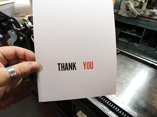 Lovin' Letterpress II - Week 2