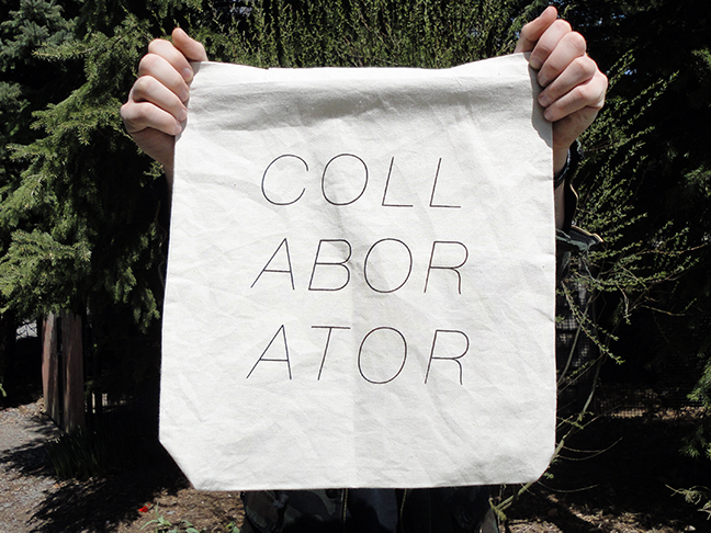 COLLABORATOR tote bag by Megan Charland